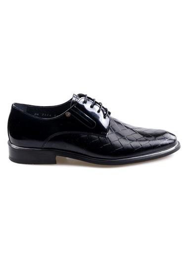 Smart Smart 2534 Siyah Erkek (39-44) Klasik Bağcıklı Rugan Deri Ayakkabı Siyah